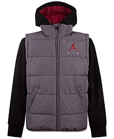 Little Boys Layered-Look Hybrid Jacket, Created for Macy's