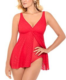 Crochet Flyaway Tummy Control Swimdress, Created For Macy's