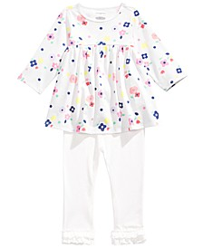 Baby Girls Floral Tunic & Ruffle Hem Leggings, Created For Macy's