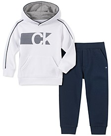 Little Boys 2-Pc. Fleece Logo Hoodie & Sweatpants Set