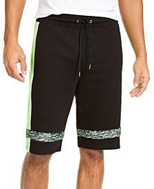 INC Men's Regular-Fit Graffiti Tape Drawstring Shorts, Created for Macy's