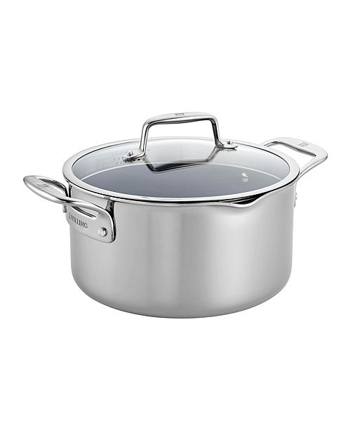 J.A. Henckels Zwilling Clad CFX 6-Qt. Dutch Oven with Strainer Lid and Pouring Spouts