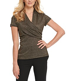 Ruched Metallic Top