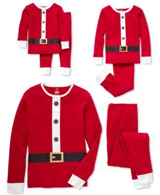 Baby Boys & Girls 2-Pc. Cotton Santa Pajama Set