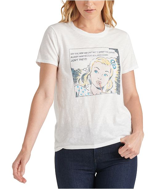 Lucky Brand Comic Book NYE Graphic T-Shirt