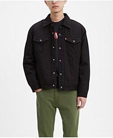 Men's Camo Sherpa Lined Trucker Jacket
