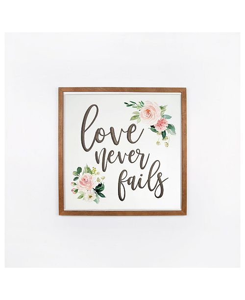 P Graham Dunn Love Never Fails Wall Art