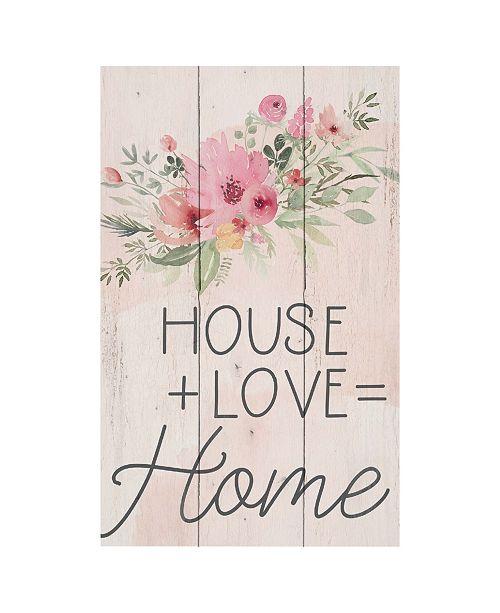 P Graham Dunn House + Love = Home Wall Art