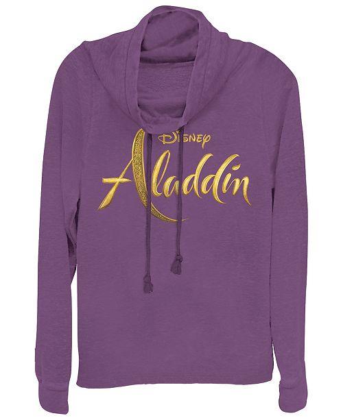 Disney Juniors' Aladdin Aladdin Live Action Logo Cowl Neck Sweatshrit