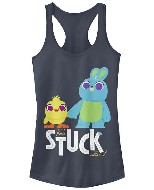 Disney Pixar Juniors' Toy Story 4 Stuck with Us Ideal Racerback Tank Top
