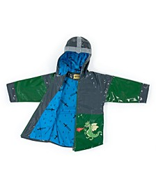Toddler Boy with Comfy Dragon Knight Raincoat