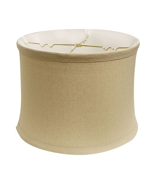 """Cloth&Wire Drum No Hug with 1"""" Trim Softback Lampshade with Washer Fitter"""