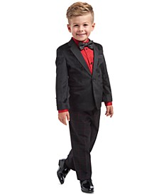 Toddler Boys 4-Pc. Velvet Suit Set