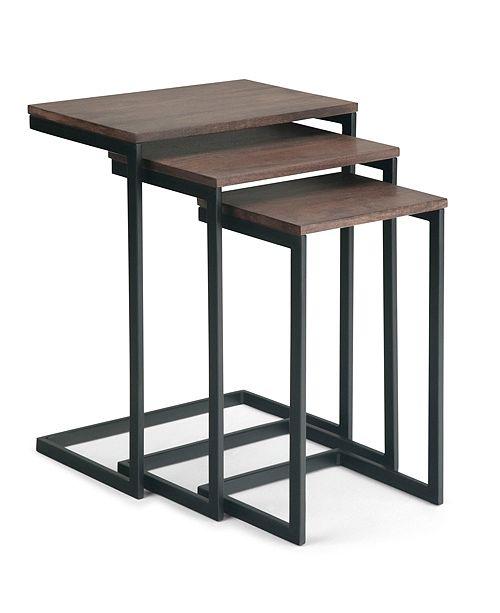 Simpli Home Burton 3Pc Nestign Table