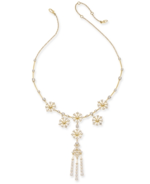 18k Gold-Plated Cubic Zirconia Statement Necklace