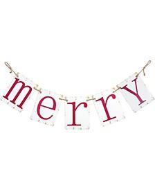 "Metal ""Merry Christmas"" Banner"