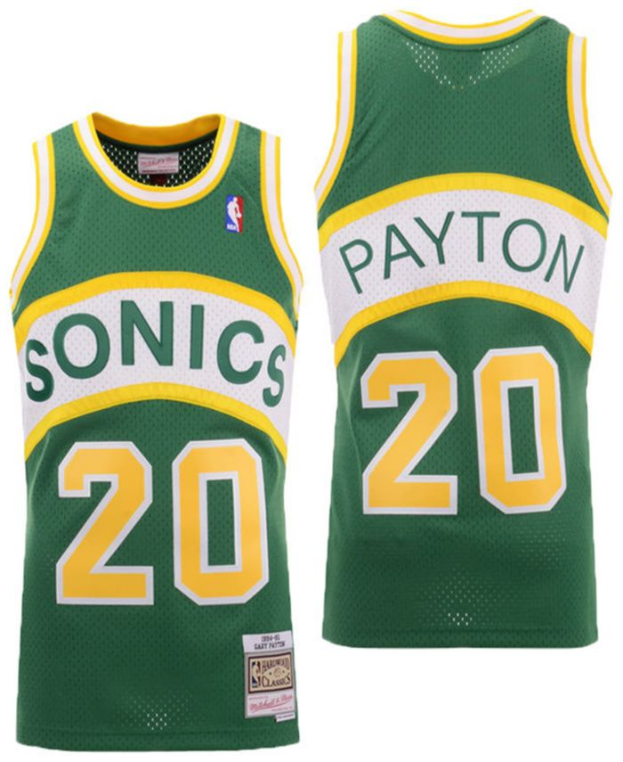 Mitchell & Ness Men's Gary Payton Seattle SuperSonics Hardwood Classic Swingman Jersey & Reviews - Sports Fan Shop By Lids - Men - Macy's