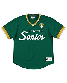 Men's Seattle SuperSonics Special Script Mesh V-neck Jersey