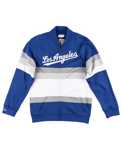 Mitchell & Ness Men's Los Angeles Dodgers Authentic Sweater Jacket