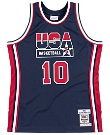 Men's Clyde Drexler Authentic USA Jersey