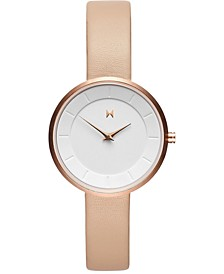 Women's Mod N2 Nude Leather Strap Watch 32mm