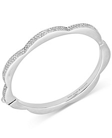 Pavé Scalloped Bangle Bracelet