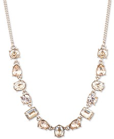 """Gold-Tone Crystal Collar Necklace, 16"""" + 3"""" extender"""