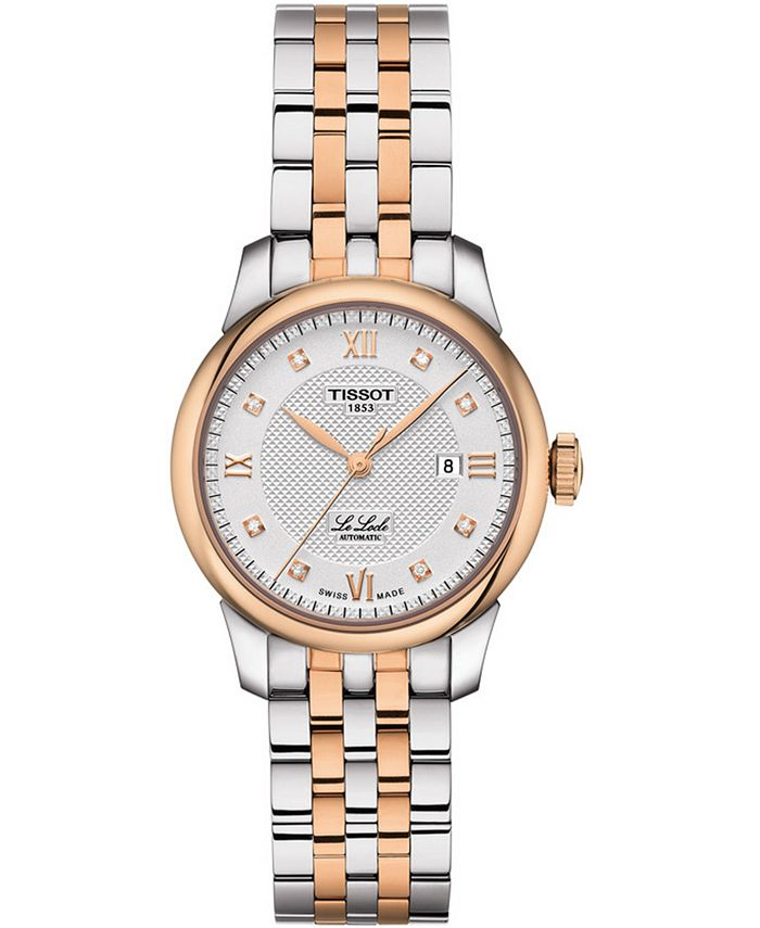 Tissot - Women's Swiss Le Locle Automatic Lady Diamond Accent Two-Tone Stainless Steel Bracelet Watch 29mm