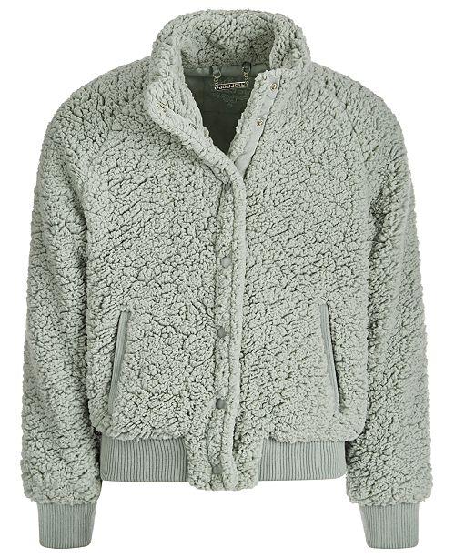 Jou Jou Big Girls Fleece Snap Jacket
