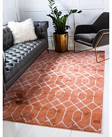 Glam Mmg001 Coral/Silver 5' x 8' Area Rug