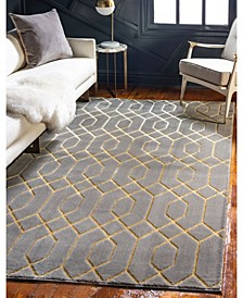 Glam Mmg001 Gray/Gold 4' x 6' Area Rug