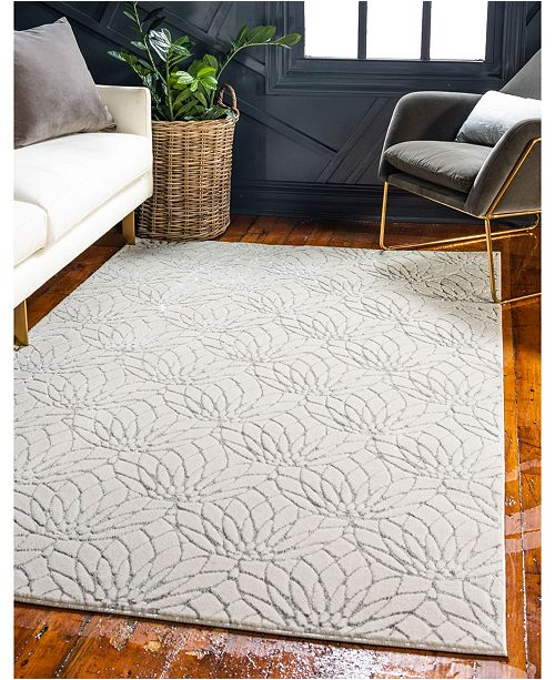 Marilyn Monroe Glam Mmg003 White/Silver 5' x 8' Area Rug
