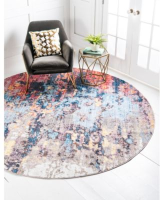 Chelsea Downtown Jzd009 Multi 8' x 8' Round Rug