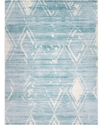 Carnegie Hill Uptown Jzu006 Turquoise 9' x 12' Area Rug
