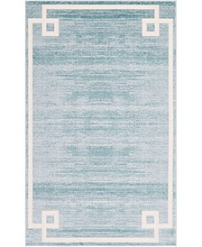 Lenox Hill Uptown Jzu005 Turquoise 5' x 8' Area Rug