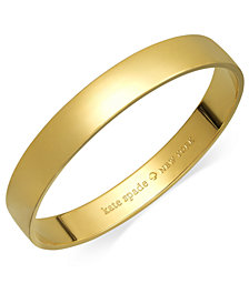 kate spade new york Bracelet, 12k Gold-Plated Idiom Bangle Bracelet