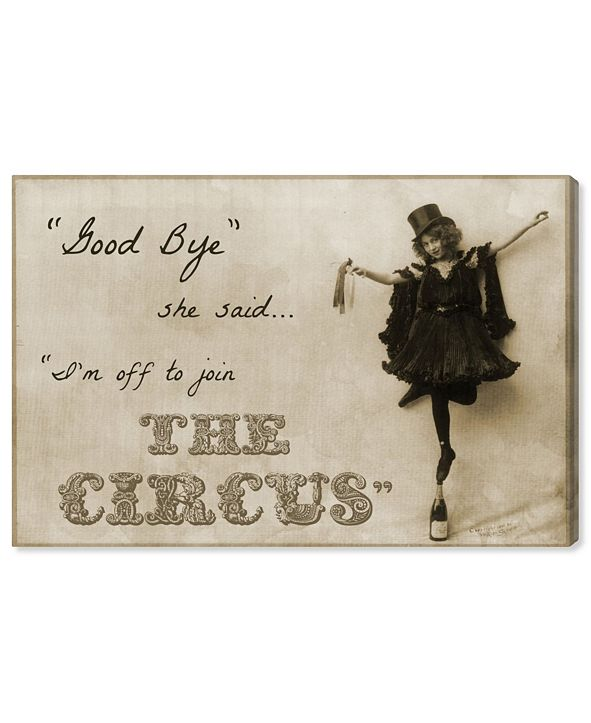 """Oliver Gal Join The Circus Canvas Art, 45"""" x 30"""""""