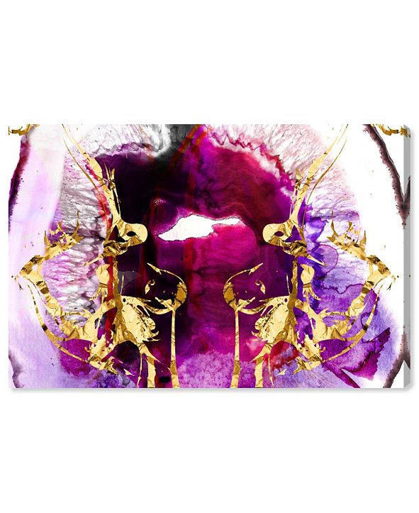 """Oliver Gal Smoking Agate Canvas Art, 24"""" x 16"""""""