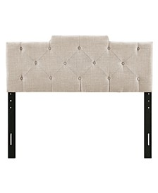 Upholstered Tufted Squared Headboard, Full/Queen
