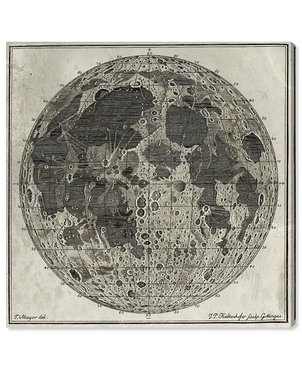 """Oliver Gal Moon Craters Canvas Art, 24"""" x 24"""""""