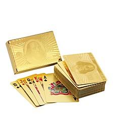 Ben Franklin 24 Karat Gold Foil Playing Cards
