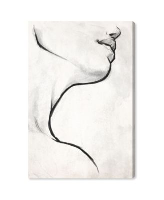 White Contour Canvas Art, 30