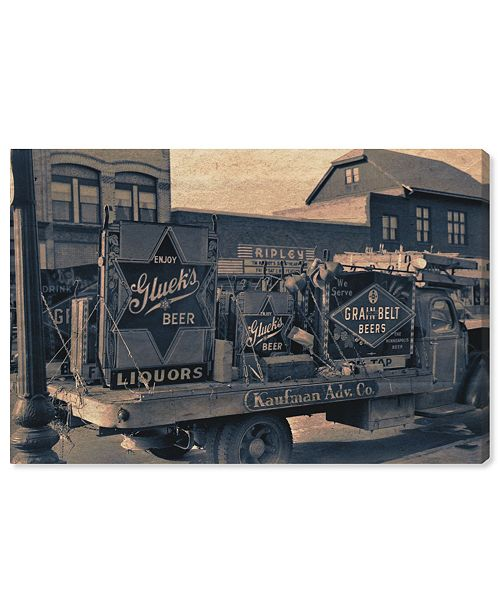 "Oliver Gal Beer Truck Canvas Art, 15"" x 10"""