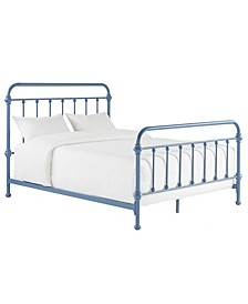 Calvados Antique Metal Bed, Queen