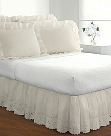 Fresh Ideas Ruffled Eyelet California King Bed Skirt