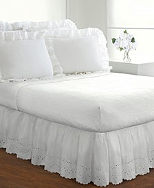 Fresh Ideas Ruffled Eyelet Queen Bed Skirt