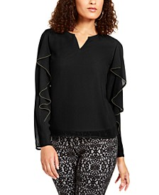 Embellished Ruffle-Sleeve Top, Created for Macy's