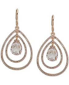 Gold-Tone Crystal Orbital Drop Earrings