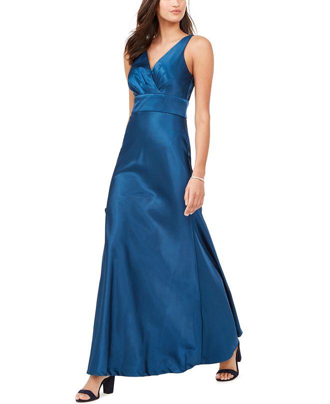 Nightway Surplice Satin Gown