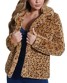 Reckless Animal-Print Faux-Fur Coat